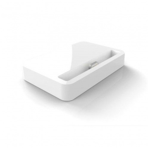Dock station Charge & Sync for iPhone 5/5S/SE/5C Glossy white
