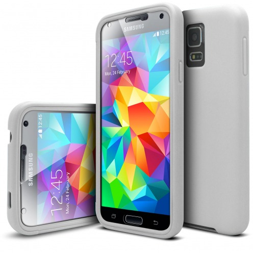 Shockproof case for Samsung Galaxy S5 Ultimate 360 Touch White