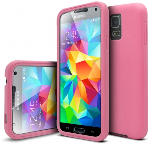 Shockproof case for Samsung Galaxy S5 Ultimate 360 Touch Pink
