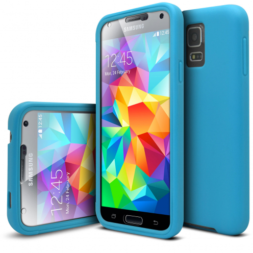 Shockproof case for Samsung Galaxy S5 Ultimate 360 Touch Blue