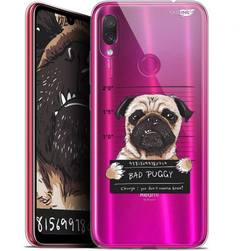 "Extra Slim Gel Xiaomi Redmi Note 7 (6.3"") Case Design Beware The Puggy Dog"