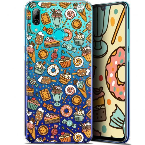 "Extra Slim Crystal Gel Huawei P Smart 2019 (6.21"") Case Design Bonbons"