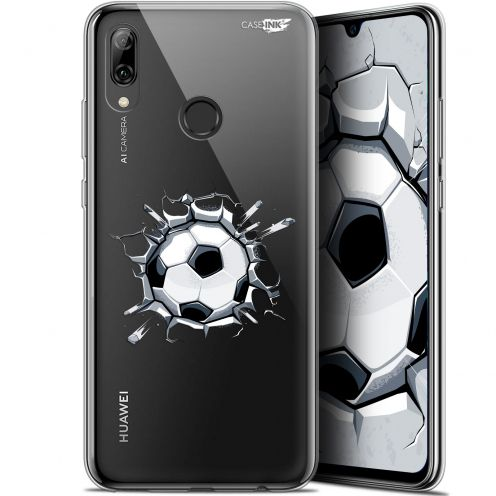 "Extra Slim Crystal Gel Huawei P Smart 2019 (6.21"") Case Design Le Balon de Foot"