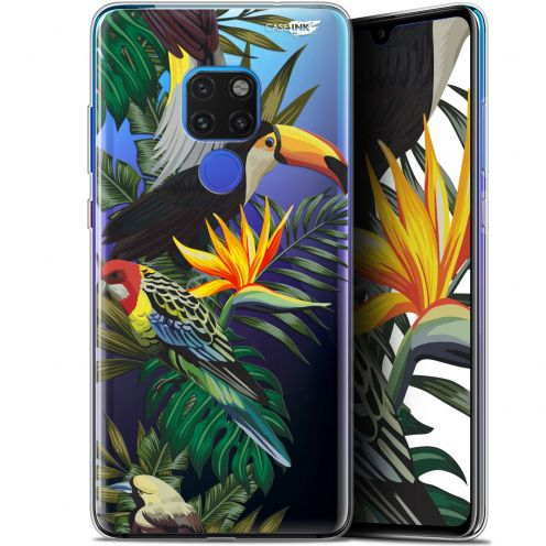 "Extra Slim Crystal Gel Huawei Mate 20 (6.5"") Case Design Toucan Tropical"