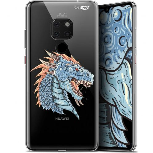 "Extra Slim Crystal Gel Huawei Mate 20 (6.5"") Case Design Dragon Draw"