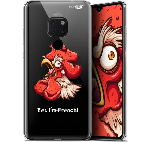 "Extra Slim Crystal Gel Huawei Mate 20 (6.5"") Case Design I'm French Coq"