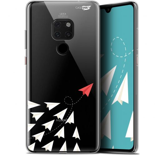 "Extra Slim Crystal Gel Huawei Mate 20 (6.5"") Case Design Papier Volant"