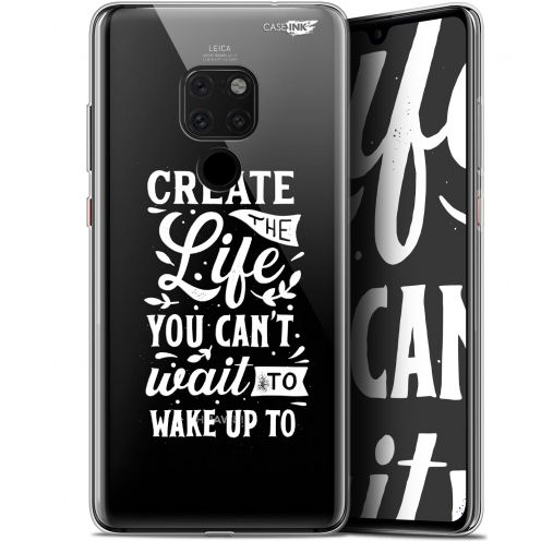 "Extra Slim Crystal Gel Huawei Mate 20 (6.5"") Case Design Wake Up Your Life"