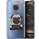 "Extra Slim Crystal Gel Huawei Mate 20 (6.5"") Case Design Beware The Puggy Dog"