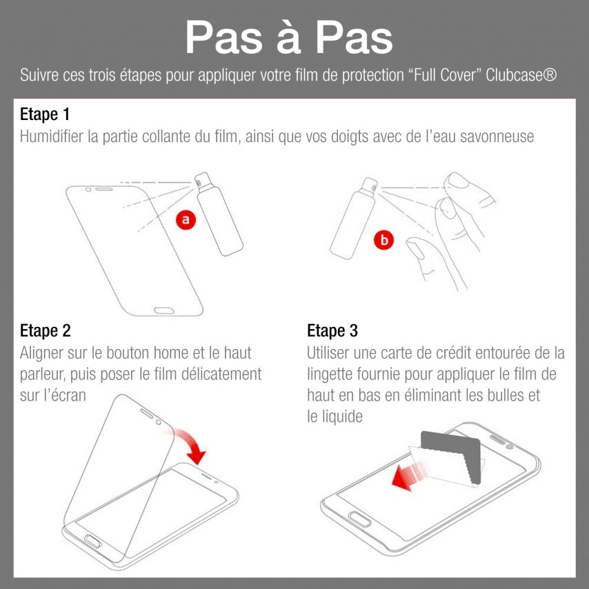 Clubcase ® Ultra Clear Full Cover HD screen protector for Galaxy Note Edge 10-Pack