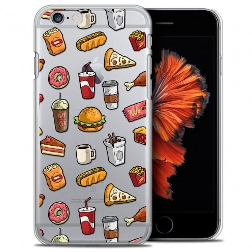 Extra Slim Crystal iPhone 6/6s Case Foodie Fast Food