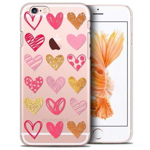 Extra Slim Crystal iPhone 6/6s Case Sweetie Doodling Hearts