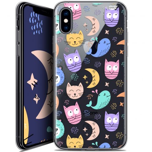 Extra Slim Crystal Gel Apple iPhone X (10) Case Design Chat Hibou