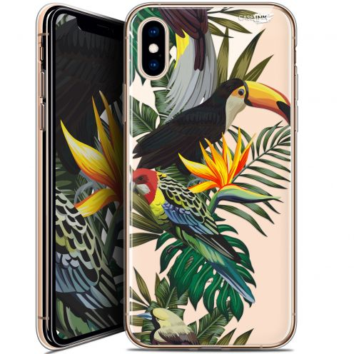 Extra Slim Crystal Gel Apple iPhone X (10) Case Design Toucan Tropical
