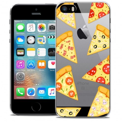 Extra Slim Crystal iPhone 5/5s/SE Case Foodie Pizza