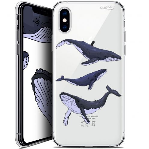 Extra Slim Crystal Gel Apple iPhone X (10) Case Design Les 3 Baleines