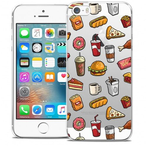 Extra Slim Crystal iPhone 5/5s/SE Case Foodie Fast Food