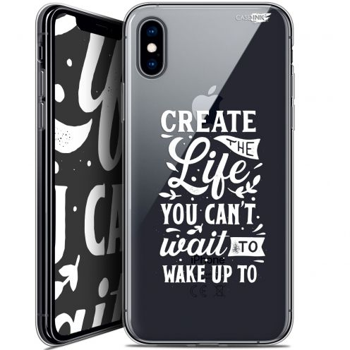 Extra Slim Crystal Gel Apple iPhone X (10) Case Design Wake Up Your Life