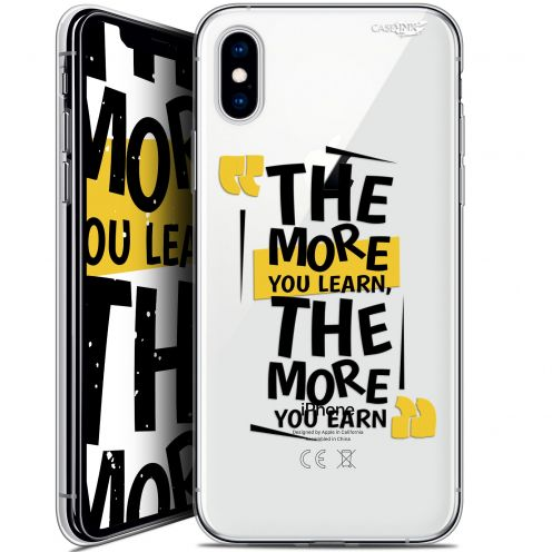 Extra Slim Crystal Gel Apple iPhone X (10) Case Design The More You Learn