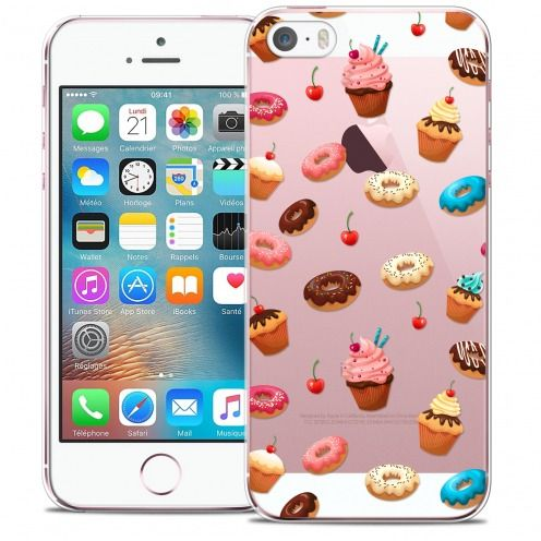 Extra Slim Crystal iPhone 5/5s/SE Case Foodie Donuts
