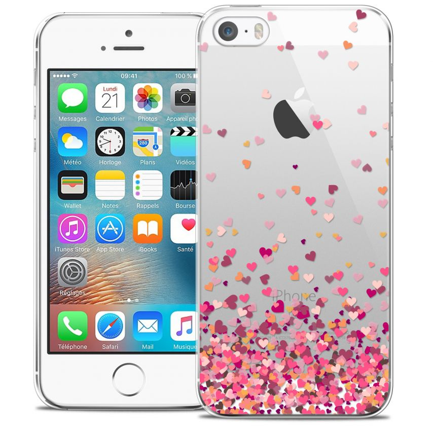 Extra Slim Crystal iPhone 5/5s/SE Case Sweetie Heart Flakes