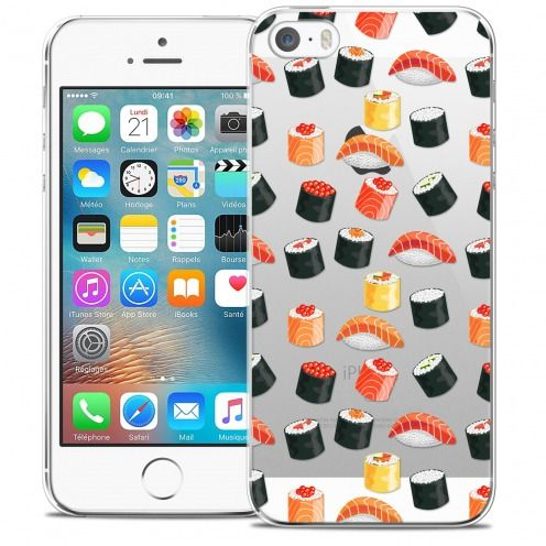Extra Slim Crystal iPhone 5/5s/SE Case Foodie Sushi