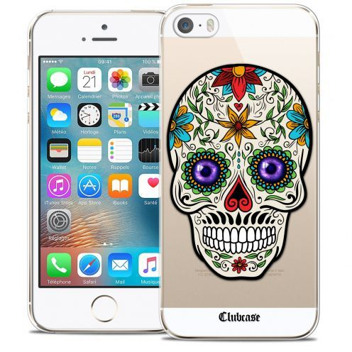 Extra Slim Crystal iPhone 5/5s/SE Case Skull Maria's Flower