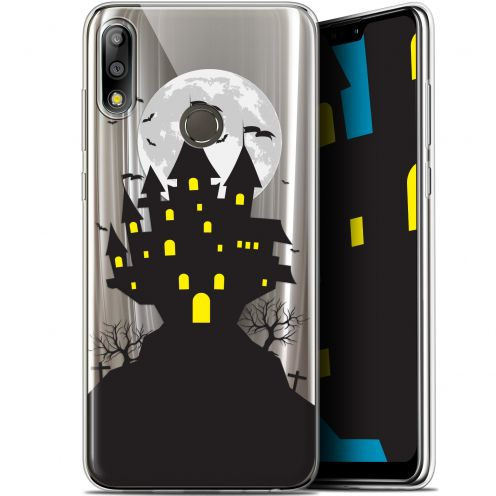 "Extra Slim Gel Asus Zenfone Max Pro (M2) ZB631KL (6.26"") Case Halloween Castle Scream"