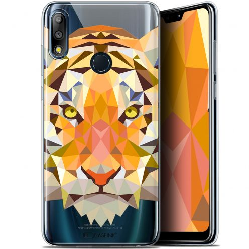 "Extra Slim Gel Asus Zenfone Max Pro (M2) ZB631KL (6.26"") Case Polygon Animals Tiger"