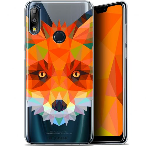 "Extra Slim Gel Asus Zenfone Max Pro (M2) ZB631KL (6.26"") Case Polygon Animals Fox"