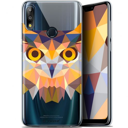 "Extra Slim Gel Asus Zenfone Max Pro (M2) ZB631KL (6.26"") Case Polygon Animals Owl"