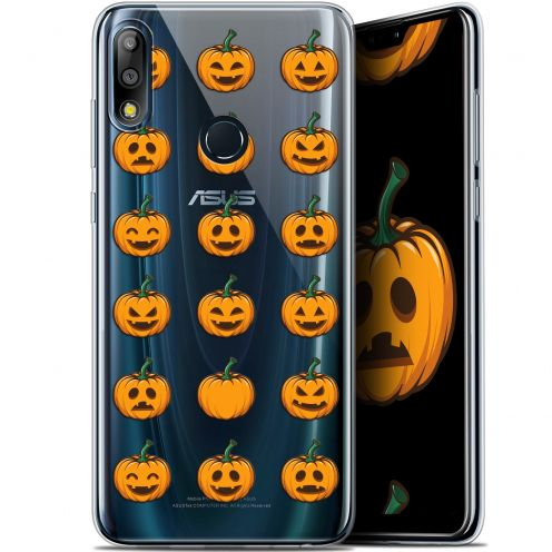 "Extra Slim Gel Asus Zenfone Max Pro (M2) ZB631KL (6.26"") Case Halloween Smiley Citrouille"