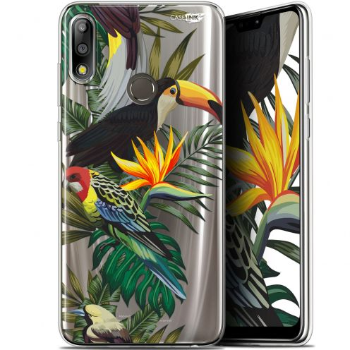 "Extra Slim Gel Asus Zenfone Max Pro (M2) ZB631KL (6.26"") Case Design Toucan Tropical"