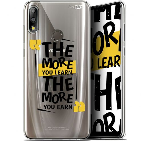 """Extra Slim Gel Asus Zenfone Max Pro (M2) ZB631KL (6.26"""") Case Design The More You Learn"""