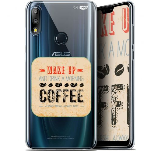 "Extra Slim Gel Asus Zenfone Max Pro (M2) ZB631KL (6.26"") Case Design Wake Up With Coffee"