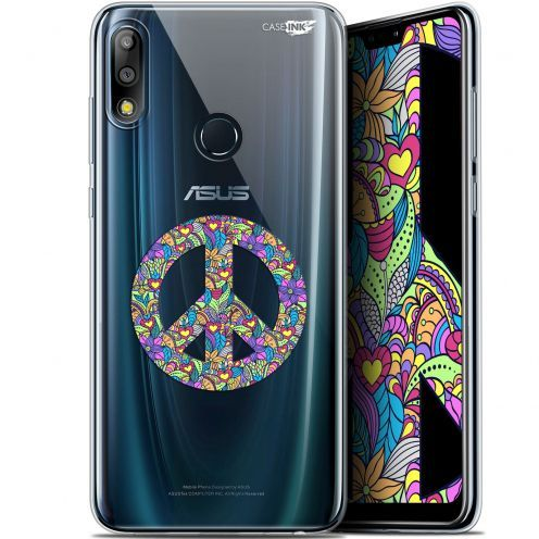 "Extra Slim Gel Asus Zenfone Max Pro (M2) ZB631KL (6.26"") Case Design Peace And Love"