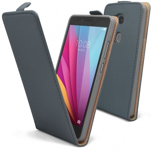 Clamshell Flip Flexi Case for Huawei Honor 5X Eco Leather Graphite