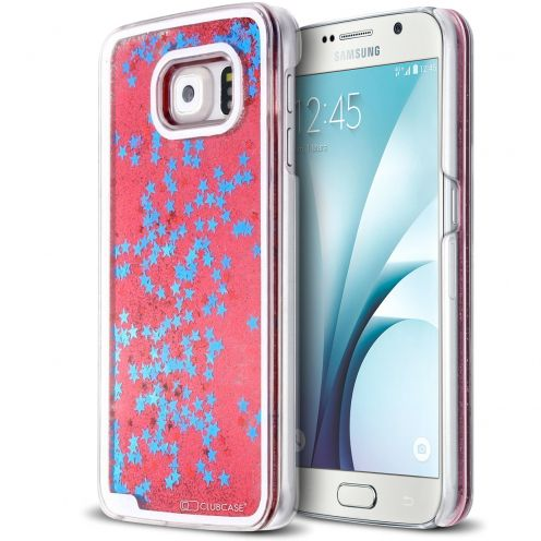 Crystal Liquid Glitter Diamonds case for Samsung Galaxy S6 Red