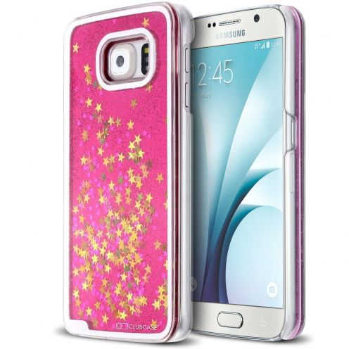 Crystal Liquid Glitter Diamonds case for Samsung Galaxy S6 Pink