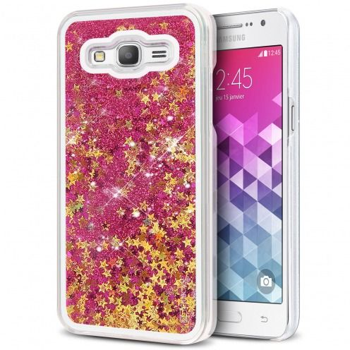 Crystal Liquid Glitter Diamonds case for Samsung Galaxy Grand Prime Pink