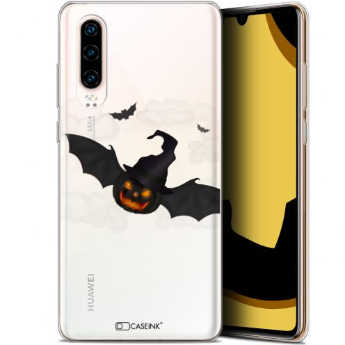 "Extra Slim Gel Huawei P30 (6.1"") Case Halloween Chauve Citrouille"