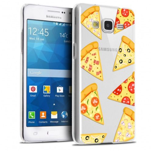 Extra Slim Crystal Galaxy Grand Prime Case Foodie Pizza
