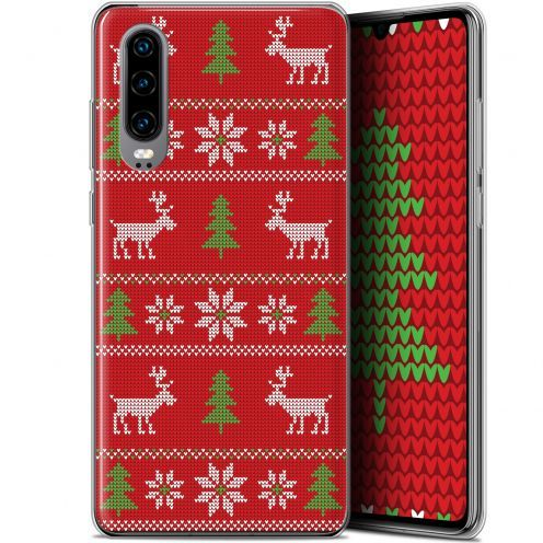 "Extra Slim Gel Huawei P30 (6.1"") Case Noël 2017 Couture Rouge"