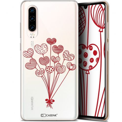 """Extra Slim Gel Huawei P30 (6.1"""") Case Love Ballons d'amour"""