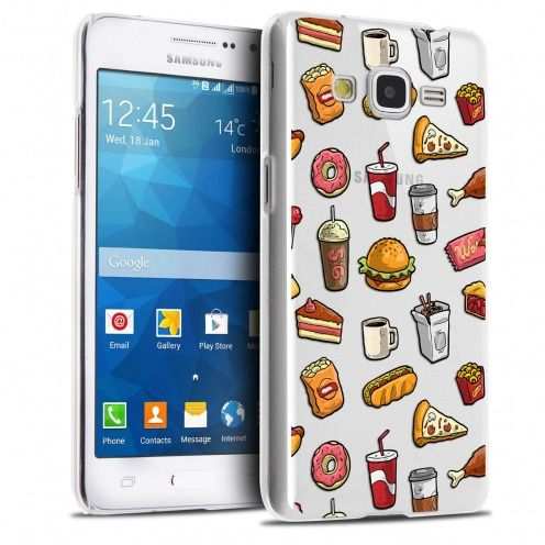 Extra Slim Crystal Galaxy Grand Prime Case Foodie Fast Food
