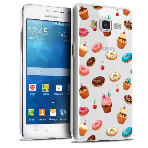 Extra Slim Crystal Galaxy Grand Prime Case Foodie Donuts