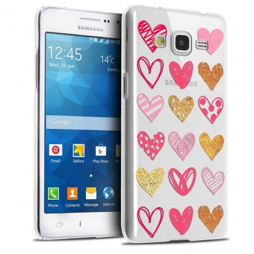 Extra Slim Crystal Galaxy Grand Prime Case Sweetie Doodling Hearts