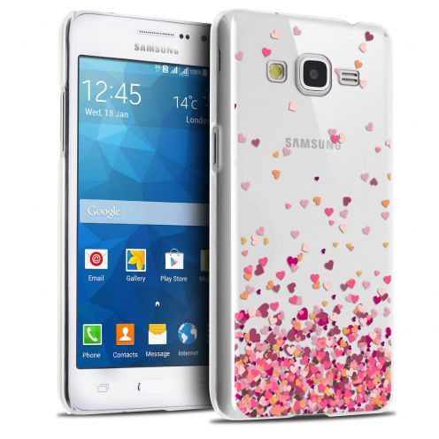 Extra Slim Crystal Galaxy Grand Prime Case Sweetie Heart Flakes