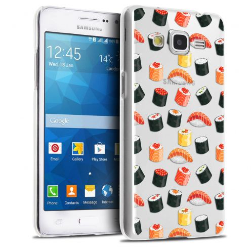 Extra Slim Crystal Galaxy Grand Prime Case Foodie Sushi