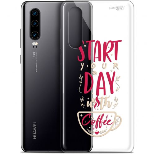 "Extra Slim Gel Huawei P30 (6.1"") Case Design Start With Coffee"